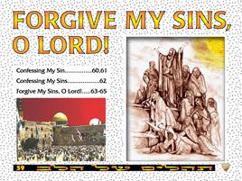 Forgive my sins O Lord
